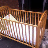 Cot and Matress - free drop off locally