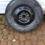 General Altimax Snow Tires on rims