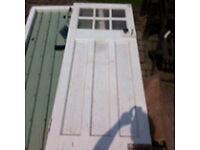 Solid external 1950's door