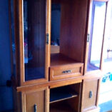 Solid oak buffet with hutch