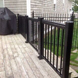 "Aluminum decorative railing and 48"" gate"
