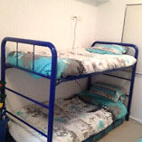 Industrial cobalt blue bunk bed Trinity Park Cairns Area Preview