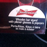 Budweiser bar Stand with two glasses  $10 for all three sets