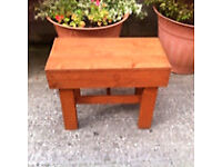 Small wooden handmade table