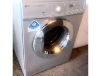 LG SILVER 7KG WASHING MACHINE COMES WITH A FULLY WORKING STORE WARRANTY