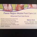 Affordable Foot Care 1 hour or 0.5 hour sessions!