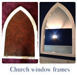 Cathedral shaped window frames