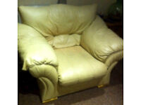 Leather Single Chair - £10ono