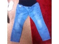 2 pairs of size 18 maternity jeans