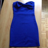 Dress robe blue without straps small never worn extensible