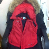 Red Columbia Winter Vest With Fur Hood