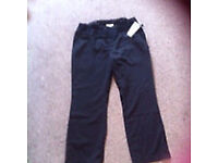 Ladies maturity black trousers. Size 12 jojo Maman bebe (new with tags)