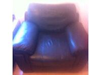 Leather single seater quick sale £15