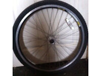 """26"""" front and rear wheels £3 each"""