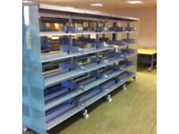 Mobile / metal shelving / double sided / can deliver and build
