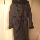 Real leather coat size small
