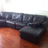 Domayne leather suite Guildford Parramatta Area Preview