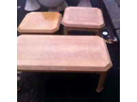 Three limed oak tables : free Glasgow delivery