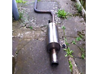 Ford fiesta 1.25 scorpion stainless steel exhaust