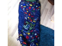 Child's sleeping bag- mountain life with space theme