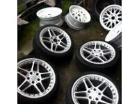 "Ac Schnitzer genuine 18"" split alloy wheels"