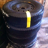 4-p235/70r16 winters on steel rims