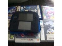 Nintendo 2 ds + 6 games