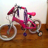 "Barbie girls bike 12"" wheels reduced!!"