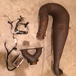 D&D single pipe, y-pipe and boondocker for F1000 Arctic Cat