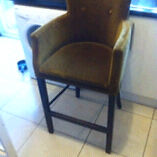 Dark gold coloured bar chair / stool very comfy