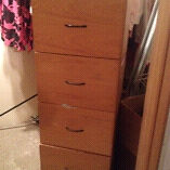 4 drawer solid wood filing cabinet