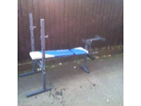 YORK FITNESS ADJUSTABLE WEIGHTS BENCH WITH ATTACHMENTS