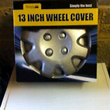 "13"" plastic wheel covers silver new"