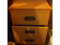 Wooden filling cabinet