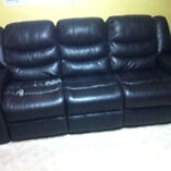 Leather Couch/sofa and loveseat