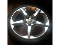"""Vauxhall astra Sri 18""""alloy with tyre £65"""
