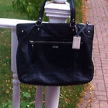 Authentic leather Coach tote bag