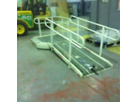 Disabled ramp plastic coated