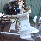 Johnson outboard (not running) Nelson Bay Port Stephens Area Preview