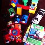 Thomas the Tank Engine toy and book bundle