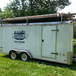 16 foot enclosed contractors trailer