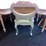 White dressing table & chair