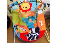 Baby bouncer, 2 available, with spare covers