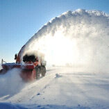 Commercial snow plowing & sanding salting
