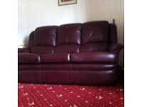 Genuine leather G Plan 3 piece suite