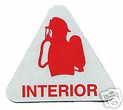 FIREFIGHTER -  INTERIOR Highly Reflective Fire Helmet Decal - with SCBA