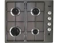 Stainless still gas hob