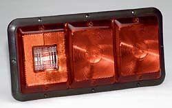 Bargman 34-84-009 #84 Series Recessed Taillight - Triple Horizontal