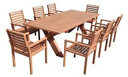 OUTDOOR WEDGE 9 PIECE OUTDOOR DINING SETTING – TEAK FINISH Alexandria Inner Sydney Preview