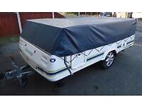 Pennine Fiesta Folding Camper with awning, 4 berth